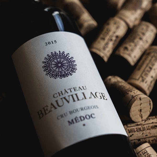 millesime; chateau; beauvillage; 2015; cru; bourgeois; medoc; acheter; boutique; ligne; vinopixo; constant; forme; becherat; photographe